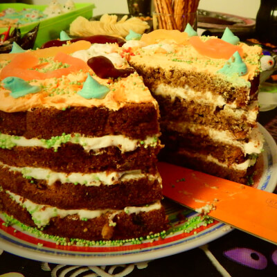 7'' Round Spiced Pumpkin & Carrot Layered Cake