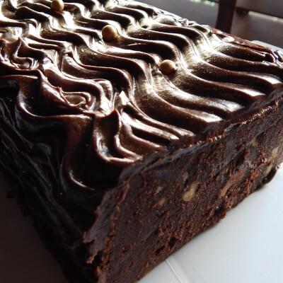 Chocolate Log Slice With Rum & Walnuts
