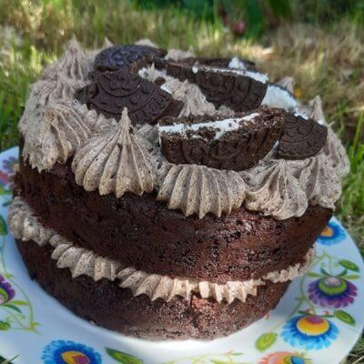 7 '' Vegan Rich Chocolate Oreo Cake Gf