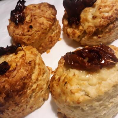 4 X Mediterranean Inspired Savoury Scones