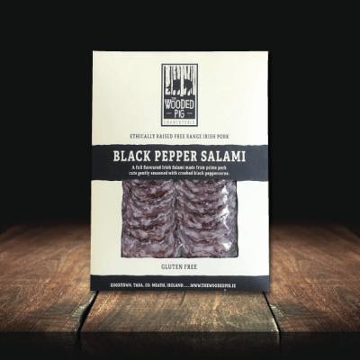 Sliced Black Pepper Salami