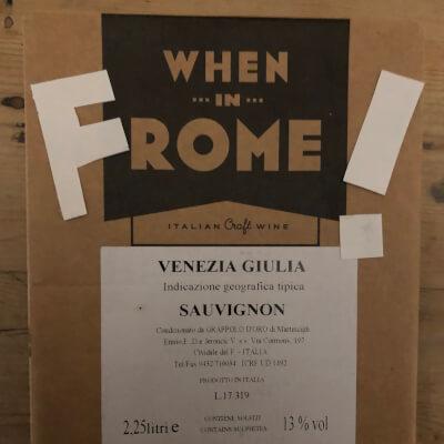Sauvignon Blanc Igt Venezia Giulia When In F Rome Italy