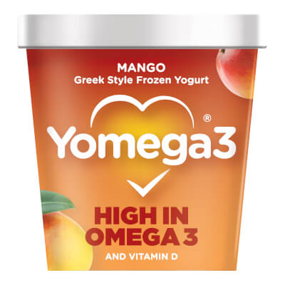 Yomega3 Mango Frozen Yogurt