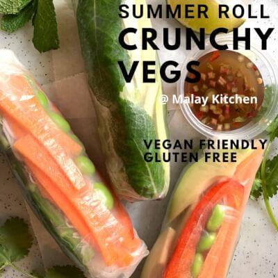 Crunchy Veg Summer Rolls -Vegan Friendly, Gluten-Free (3 Pcs)