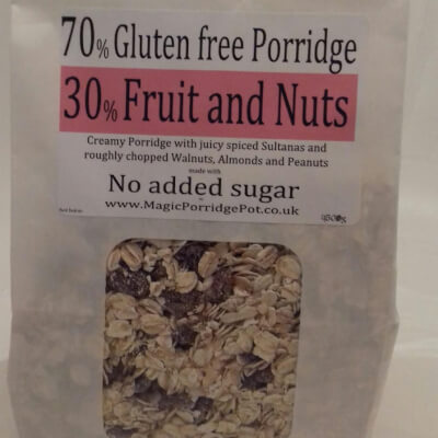 Porridge GLUTEN FREE Fruit Nuts