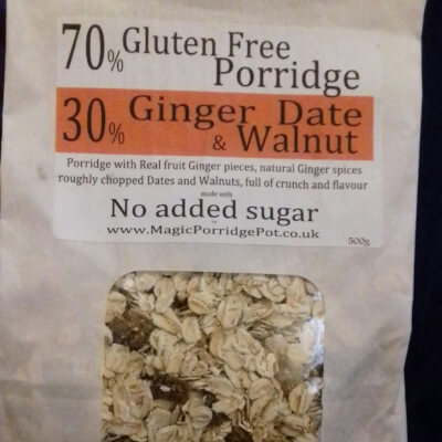 Porridge GLUTEN FREE Ginger Date Walnut