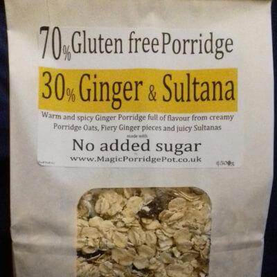 Porridge GLUTEN FREE Ginger Sultana