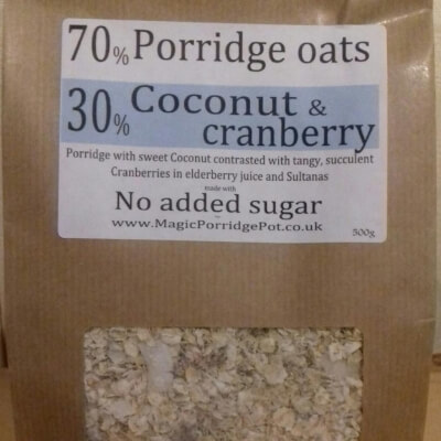 Porridge Coconut Cranberry