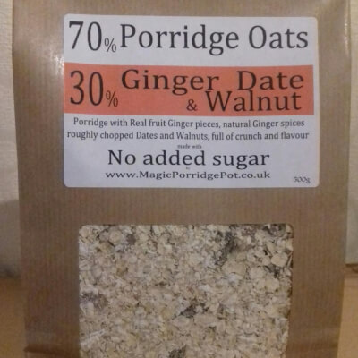Porridge Ginger Date Walnut