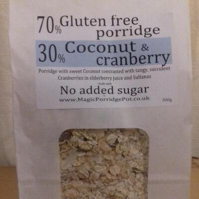 Porridge GLUTEN FREE Coconut Cranberry Sultana