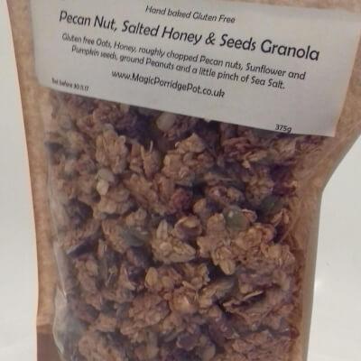 GRANOLA Gluten Free Pecan Nut Salted Honey Seeds
