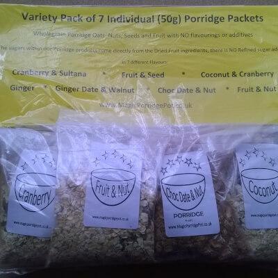 PORRIDGE Variety Pack Of All 7 Porridge Flavours