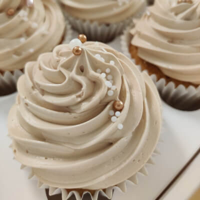 White Choc Mocha Cupcakes (Gf Ingredients - Box Of 6)