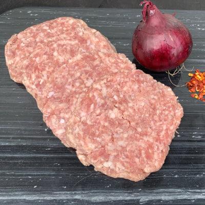 Pork & Apple Burgers 4 Pack