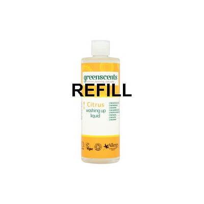 Greenscents Citrus Washing Up Liquid Refill