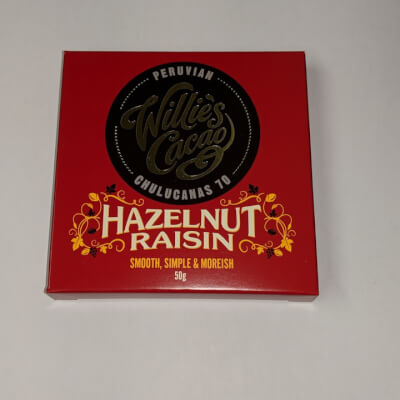 Willies Cacao Hazelnut Raisin