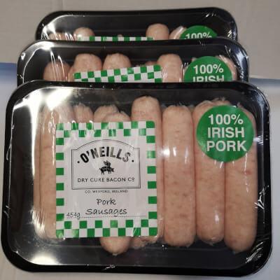 O Neills Pork Sausages 454G