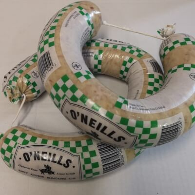 O Neills Dry Cure White Pudding Ring 454G