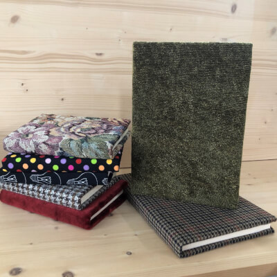 A6 Olive Green Textured