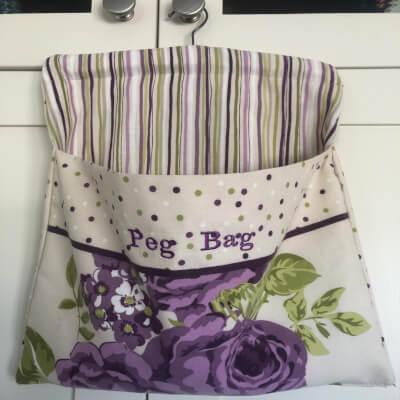 Embroidered Peg Bag