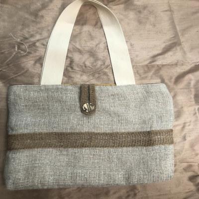 Loose Weave Linen Shopping Bag