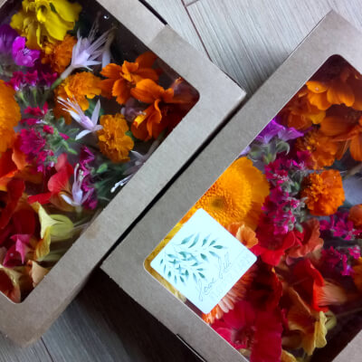 Punnet Of Mixed Edible Flowers