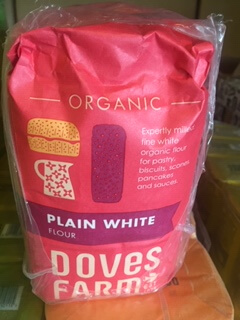Plain White Organic Flour - Doves