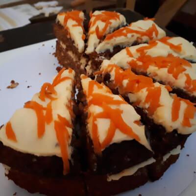 Slice Of Gluten Free Vegan Carrot Cake