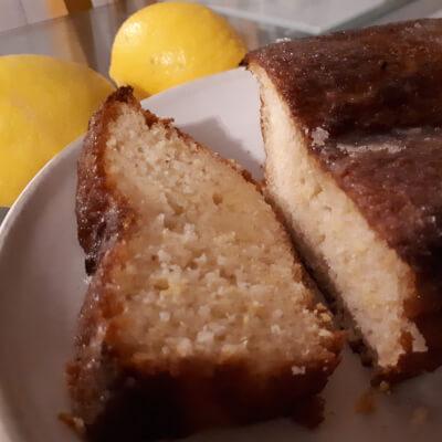 Slice Of Vegan Lemon Drizzle Loaf