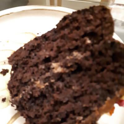 Slice Of Gluten Free Vegan Chocolate Cake