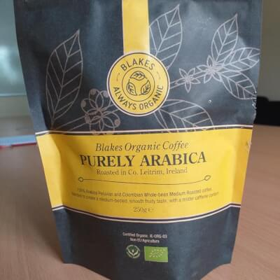 250G Purely Arabica Organic Bean Coffee