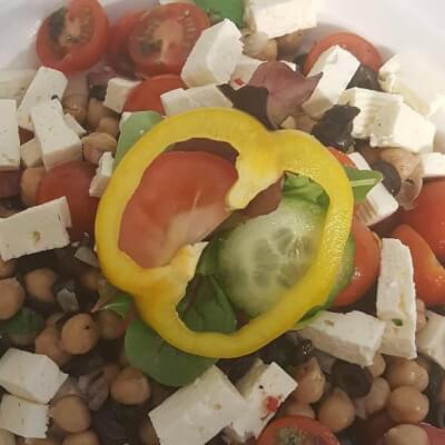 Chickpea,Feta,Olive And Cherry Tomato