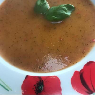 Courgette And Red Pepper Soup