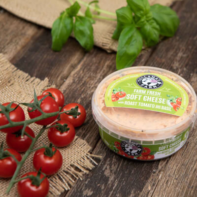 Soft Cheese With Tomato, Basil And Garlic