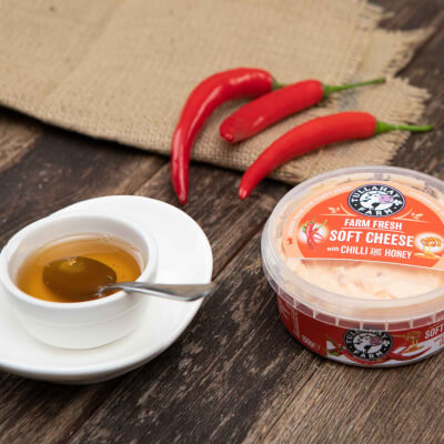 Soft Cheese With Chilli And Honey