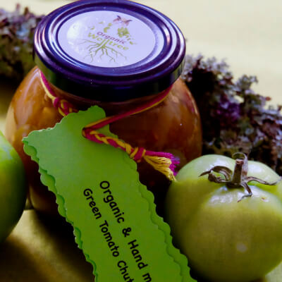 Green Tomato With Crystanllised Ginger Chutney