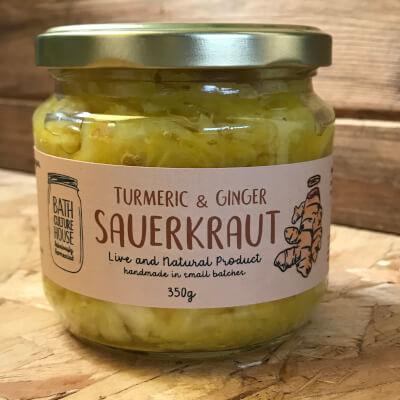 Turmeric & Ginger Sauerkraut