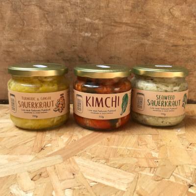 Kimchi & Sauerkraut Trio