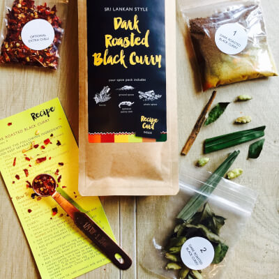 Main Dish:  Dark Roasted Black Curry Kit