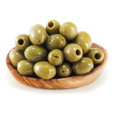 Pitted Green Pelion Olives