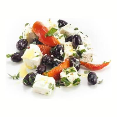 Feta Salad With Peppers, Parsley & Olives