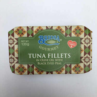 Tuna Fillets In Olive Oil With Black Eyed Peas