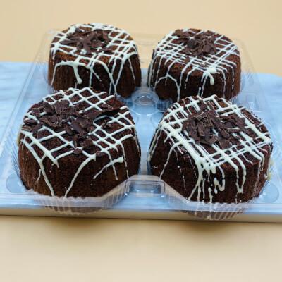 4 Pack Individual Brownie