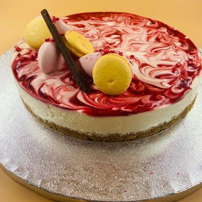 Gluten Free Raspberry Swirl Cheesecake