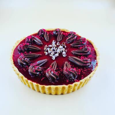 Rich Chocolate & Raspberry Pie