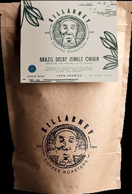 Killarney Coffee Brazil Decaf Single Origin - Whole Bean