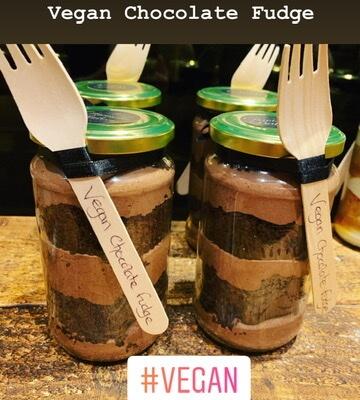 Vegan Chocolate Fudge Cake Jar