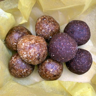 Energy Balls Gift Box - Rose / Salted Raw Cacao / Cardamon & Ginger