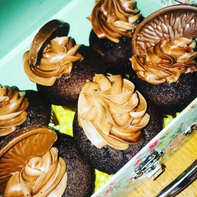 Chocolate Fudge & Salted Caramel Cupcakes