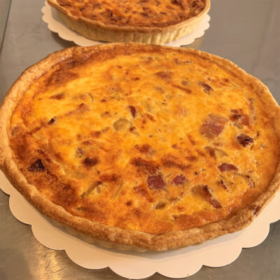9 Inch Quiche Lorraine (Bacon And Onions)  Serves 6-8 Portions